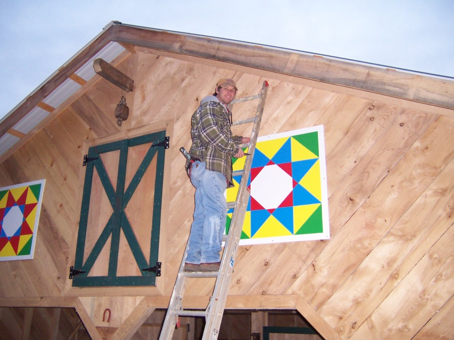 George and Barn quilts
