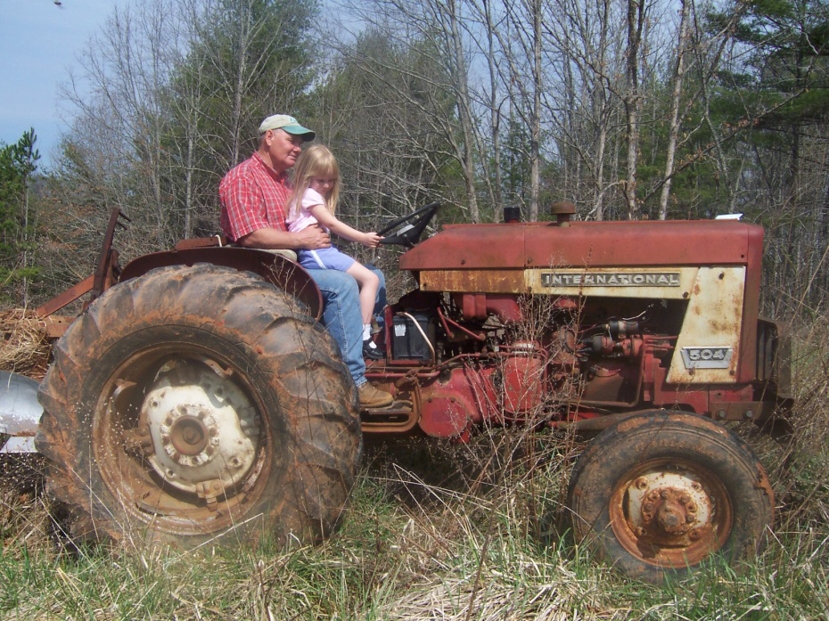 Buckner family tractor before restoration